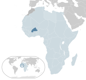 Burkina Faso is located in Western Africa