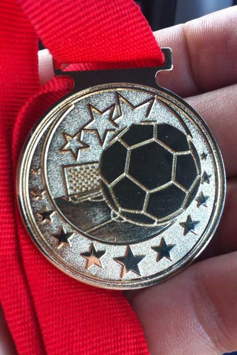 Torneo dei Presidenti Bronze Medal winners for 2013, the Santa Rosa Black Oaks Soccer Club U8 Boys Team at the