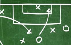 Chalkboard strategy black oaks soccer