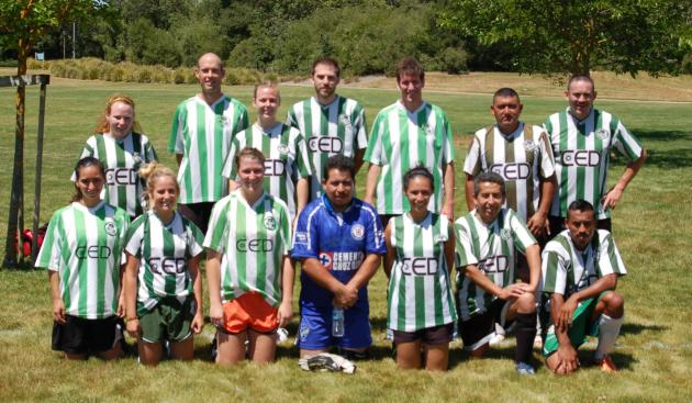 Santa Rosa Soccer Adult Co-Ed Team for the SCACSL Black Oaks