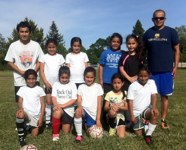 The Santa Rosa Black Oaks U8 Girls Team - Lady Oaks