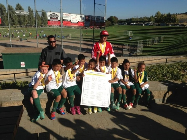 Santa Rosa Black Oaks Youth Soccer Club wins U9 Benicia Youth Soccer Tournament