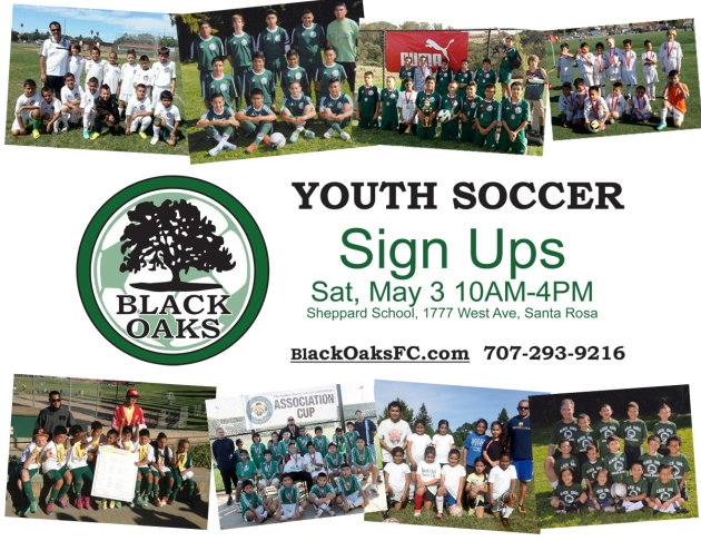 Santa Rosa Soccer Registration for the Black Oaks Youth Competitive Soccer