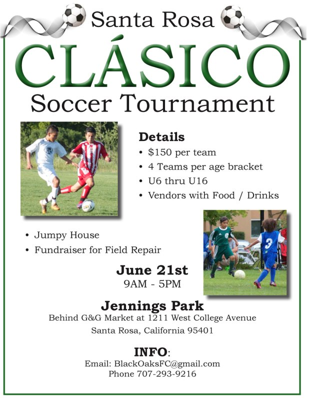 Black Oaks Youth Soccer Club Annual Soccer Tournament