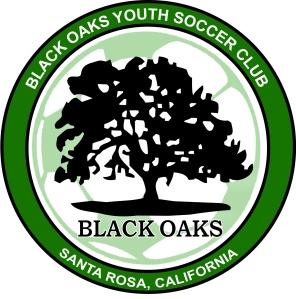 The Santa Rosa Black Oaks Youth Soccer Club Logo